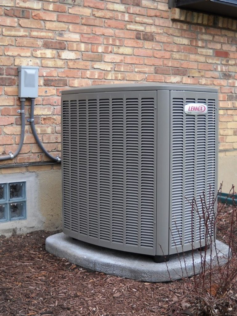 contact blake heating and cooling for a Lennox system
